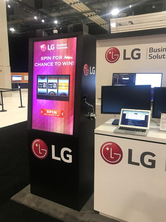 LG booth spin win